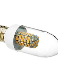 cheap -LED Candle Lights 520-550 lm E26 / E27 102 LED Beads SMD 3528 Warm White 220-240 V