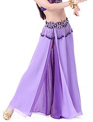 cheap -Belly Dance Skirt Women's Chiffon Split Front Natural Skirt / Ballroom