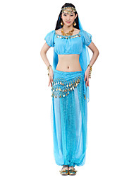 cheap -Belly Dance Coin Beading Women's Natural Chiffon / Performance