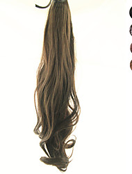 cheap -17 Inch Lace Clip Synthetic Curly Wavy Ponytail(Assorted 4 Colors)