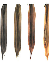 cheap -20.5 Inch Lace Clip Synthetic Straight Ponytail(Assorted 4 Colors)