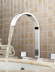 Недорогие -Lightinthrbox Смесители для ванной Sprinkle® - Современный Хром Широко распространенный Три отверстия
