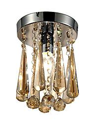 cheap -1-Light LightMyself™ Flush Mount Ambient Light - Crystal, 110-120V / 220-240V Bulb Not Included / 20-30㎡ / E12 / E14