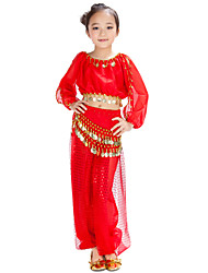 cheap -Belly Dance Outfits Chiffon Sequin / Coin / Ballroom