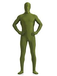 cheap -Dark Green Unisex Lycra Full Body Zentai