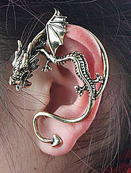 cheap -Women's Stud Earrings Ear Cuff Climber Earrings Dragon Cheap Ladies Personalized Unique Design Vintage Earrings Jewelry Bronze / Silver For Party Daily