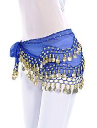 cheap -Belly Dance Belt Women's Training Chiffon Coin Hip Scarf / Ballroom