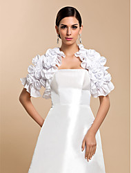 cheap -Short Sleeve Coats / Jackets Chiffon Wedding / Party Evening / Casual Wedding  Wraps With