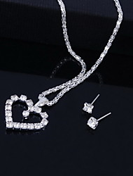 cheap -Elegant Alloy with Rhinestone Necklace,Earrings Jewelry Set