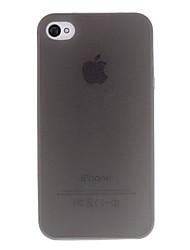 Недорогие -Кейс для Назначение iPhone 4/4S / Apple iPhone 4s / 4 Кейс на заднюю панель Мягкий ТПУ