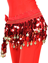 cheap -Belly Dance Belt Women's Training Chiffon Beading / Sequin / Coin / Ballroom