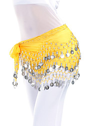 cheap -Belly Dance Hip Scarf Coin Beading Women's Training Chiffon / Ballroom