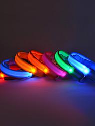 cheap -Dog Collar LED Lights Nylon Yellow Red