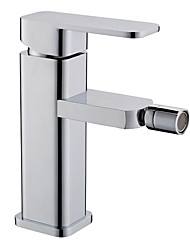 cheap -Contemporary Centerset Ceramic Valve One Hole Single Handle One Hole Chrome, Bidet Faucet