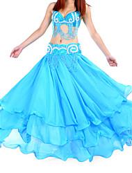 cheap -Belly Dance Skirt Women's Training Chiffon Natural / Ballroom