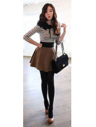 cheap -Women's Going out Basic T-shirt - Striped Screen Color