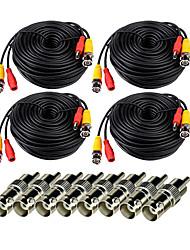 Недорогие -кабели 4pcs 150ft видео-видео мощность видео с разъемом bnc to rca для систем безопасности 1000 см 0,75 кг