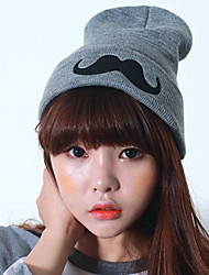 cheap -Women's Street chic Knitwear Beanie / Slouchy-Solid Colored Winter Black Gray / Hat & Cap