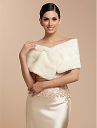 cheap -Sleeveless Shrugs Faux Fur Wedding / Party Evening / Casual Wedding  Wraps / Fur Wraps With