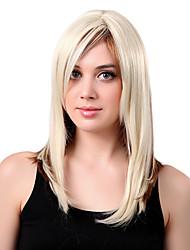 Недорогие -Монолитным долго высококачественных синтетических смешанных цветов прямые волосы парики сторону взрыва