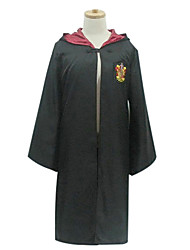 cheap -Magic Harry Gryffin d'or Slytherin Cosplay Costume Cloak Party Costume Movie Cosplay Black Cloak Christmas Halloween Children's Day