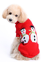 cheap -Dog Sweater Winter Dog Clothes Costume Woolen Solid Colored Keep Warm Christmas XS S M L XL