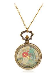 cheap -Women's Pocket Watch Necklace Watch Quartz Bronze Casual Watch Ladies Charm