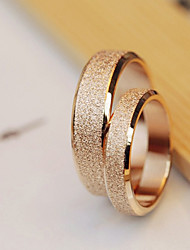 cheap -High Quality Titanium Steel Golden Dull Polish Couple Wedding Rings
