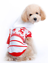cheap -Dog Sweater Hoodie Winter Dog Clothes Red Costume Woolen Reindeer Holiday Christmas XS S M L XL
