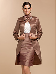 cheap -Long Sleeve Satin Wedding / Party Evening Wedding  Wraps With Coats / Jackets