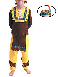 cheap -Primitive Cosplay Costume Kid's Halloween Carnival Festival / Holiday Polyester Carnival Costumes / Top / Headwear