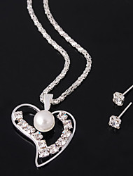 cheap -Women's Rhinestone Imitation Pearl Alloy Wedding Party Special Occasion Anniversary Birthday Engagement Gift Daily Earrings Necklaces