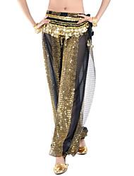 cheap -Belly Dance Bottoms Women's Performance Chiffon Sequin Pants