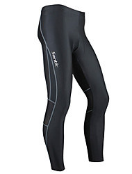 cheap -SANTIC Men's Cycling Tights Bike Tights Bottoms Thermal / Warm Windproof Breathable Sports Spandex Winter Black Mountain Bike MTB Road Bike Cycling Clothing Apparel Advanced Semi-Form Fit Bike Wear