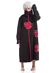 cheap -Inspired by Naruto Sasuke Uchiha Anime Cosplay Costumes Japanese Cosplay Suits Print Cloak For Men's