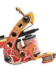 cheap -Orange Decrative Pattern Cast Iron Dual Coils Tattoo Machine Gun