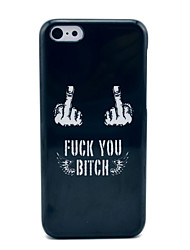 cheap -Fuck Off Black Hard Case for iPhone 5C