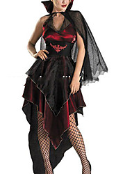 cheap -Vampire Cosplay Costume Women's Halloween Carnival New Year Festival / Holiday Polyester Women's Carnival Costumes / Cloak