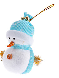 cheap -Light Weight Knitted Hatted Snowman Christmas Ornament (Random Color)