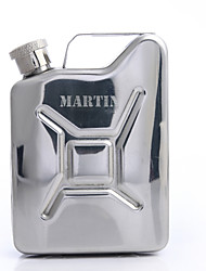 cheap -Personalized Father's Day Gift Kettle Shaped 4oz Metal Capital Letters Flask