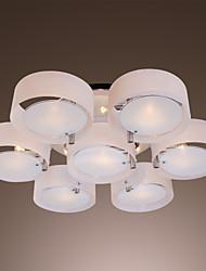 abordables -Luminaire encastré géométrique maishang® en métal chromé, acrylique style mini, ampoule 110-120v / 220-240v non comprise / e26 / e27