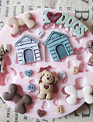 Недорогие -1шт Силикон Экологичные Свадьба Торты Печенье Пироги Мультфильм образный выпечке Mold Инструменты для выпечки
