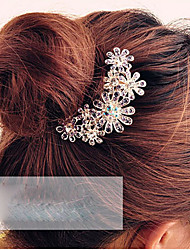 cheap -Women's Elegant Crystal Alloy Hair Combs Daily Sports