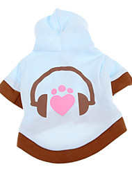 cheap -Dog Coat Hoodie Dog Clothes Cartoon Blue Cotton Costume For Pets
