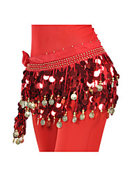 cheap -Belly Dance Hip Scarves Women's Training Chiffon Sequin / Coin Hip Scarf