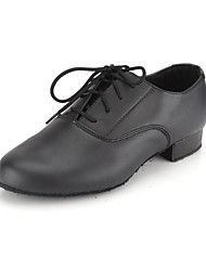 cheap -Men's Modern Shoes / Ballroom Shoes Faux Leather Lace-up Oxford Lace-up Low Heel Non Customizable Dance Shoes Black / EU43