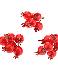 cheap -3 pack Small Red Fruit Christmas Decoration Christmas Tree Ornament