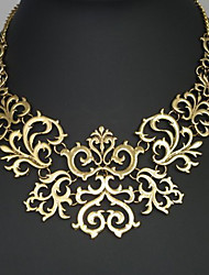cheap -Women's Statement Necklace Flower Ladies Vintage European Alloy Golden Silver Necklace Jewelry For Party Anniversary Birthday Congratulations Thank You Gift