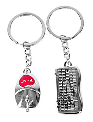 cheap -Personalized Engraved Gift Mouse and Keyboard Shaped Lover Keychain