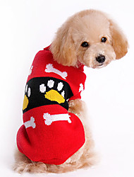 cheap -Dog Sweater Dog Clothes Cartoon Red Pink Woolen Costume For Winter